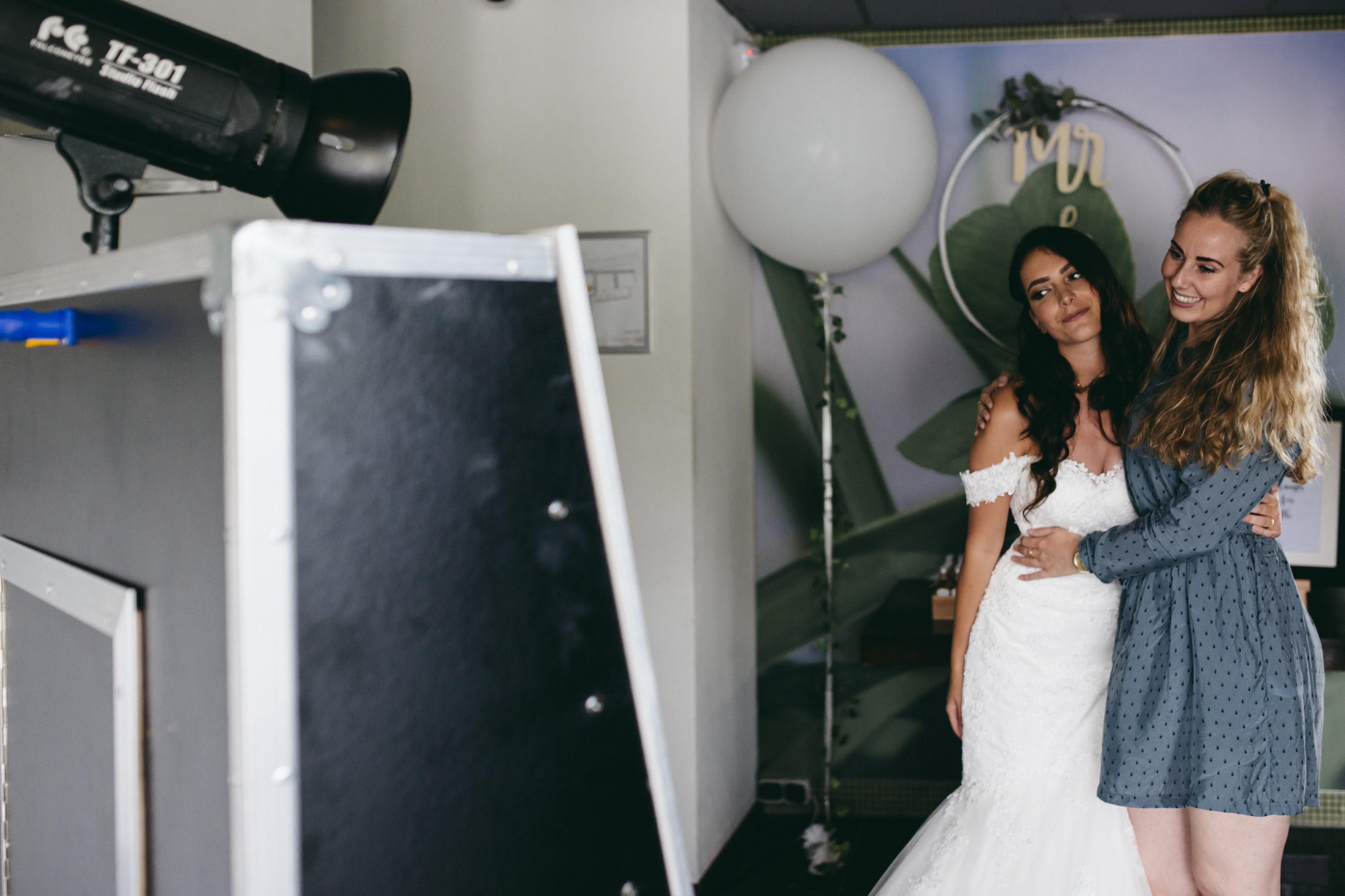 Bruiloft met de fotospiegel